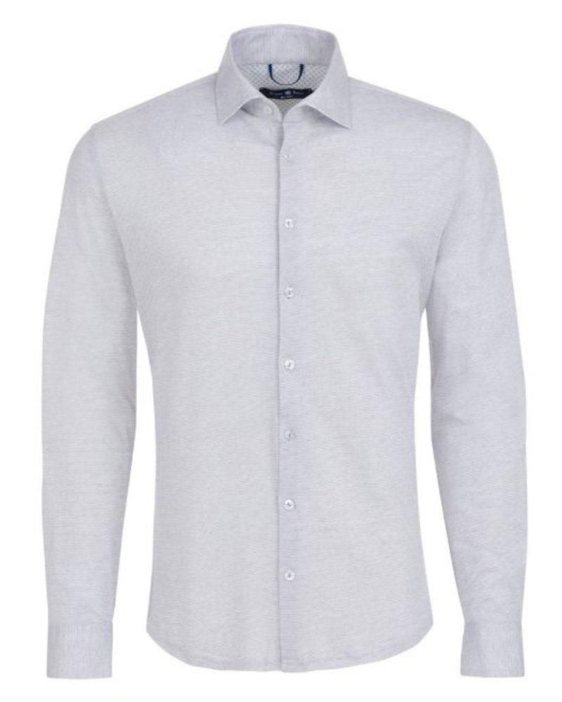 Jacquard Knit Long Sleeve Shirt