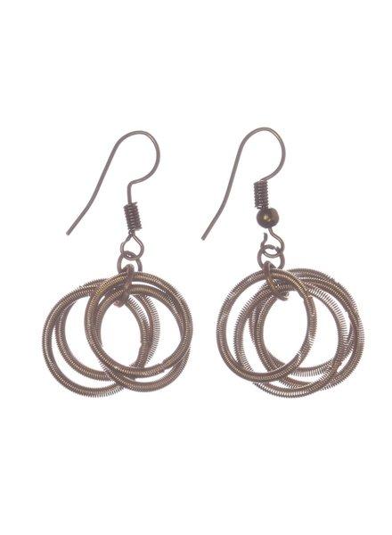verdigris Bronze PianoWire loop earrings