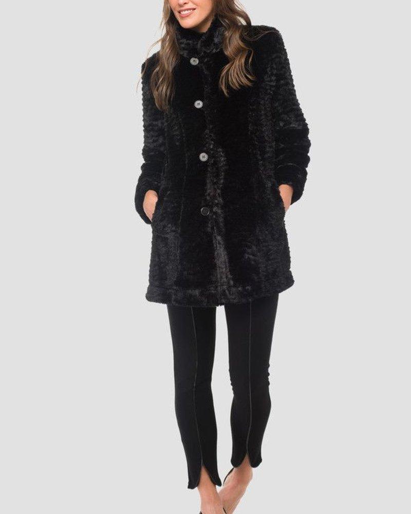 Reversable fur-look coat