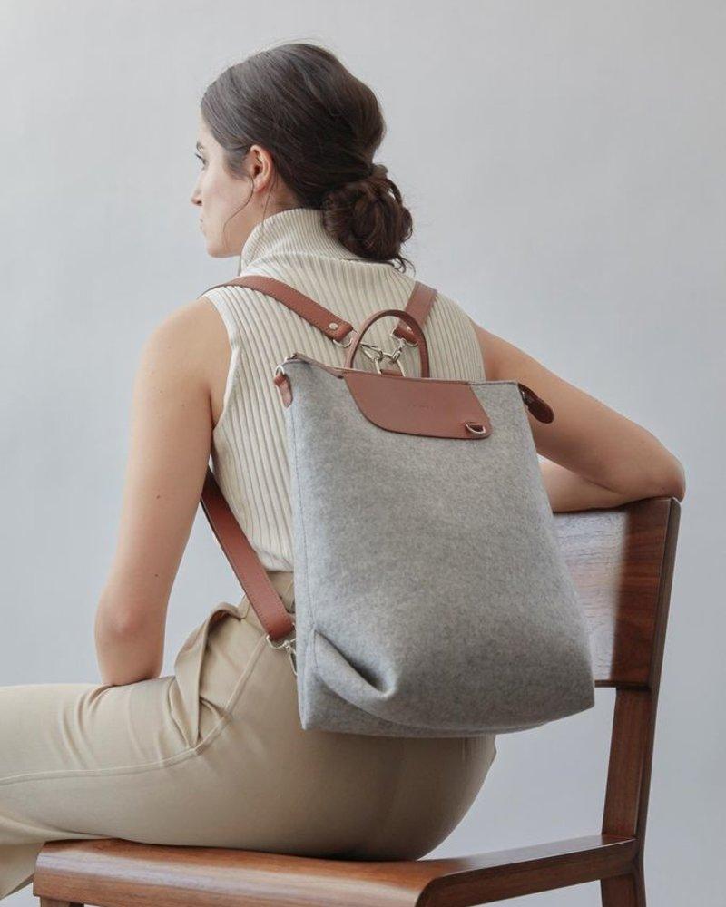 Bedford Backpack Granite Felt / Sienna Leat