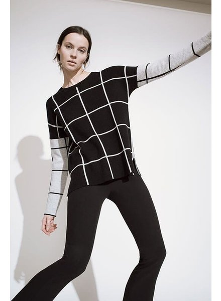 Kokun Inverse Windowpane cashmere sweaters