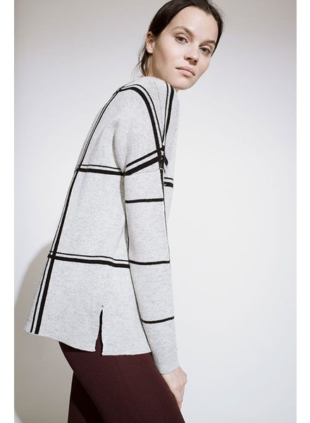Kokun Double scale window cashmere sweater