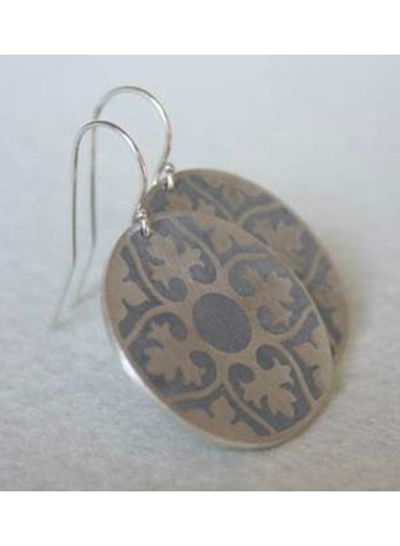 verdigris Praline Silver & Concrete earrings