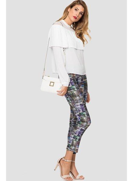 Crosshatch multicolored pattern pant