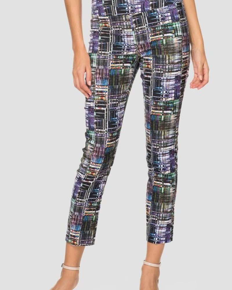 Crosshatch multicolored pattern pant