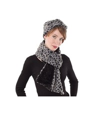 Headband faux fur, Snow owl