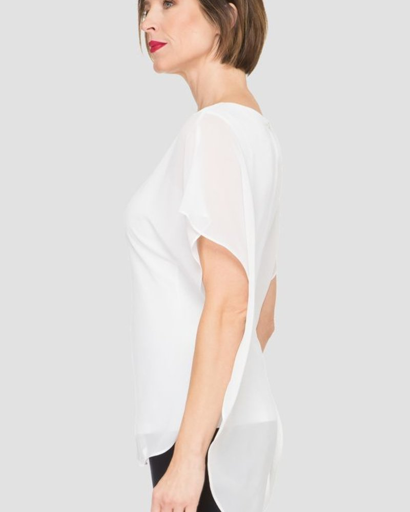 Layered sleeveless blouse