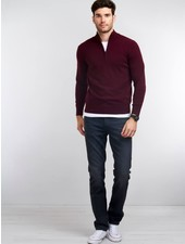 Thermal mock neck cashmere sweater