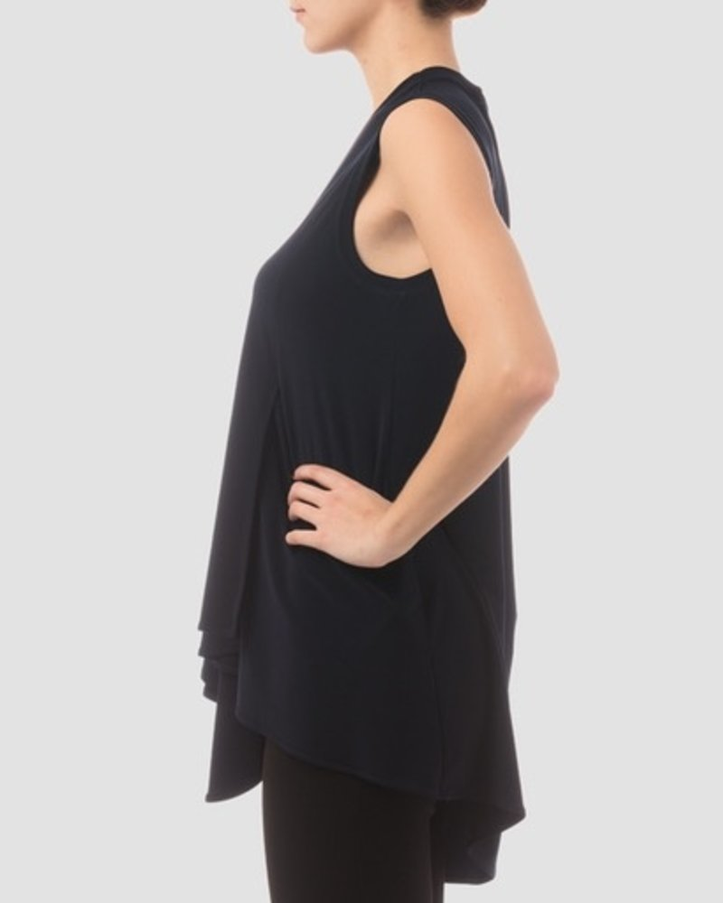 Joseph Ribkoff Asymmetrical Sleeveless Top