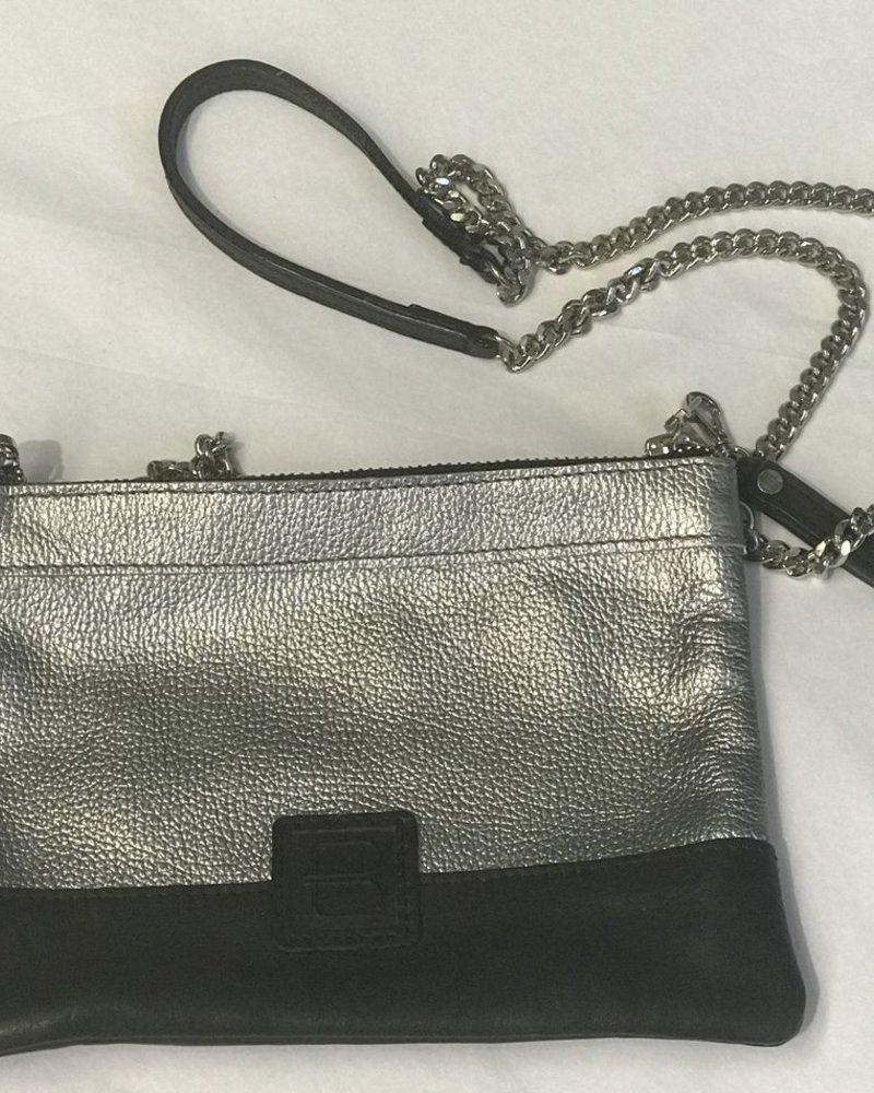 verdigris Sharon metalic leather 2-IN-1 bag