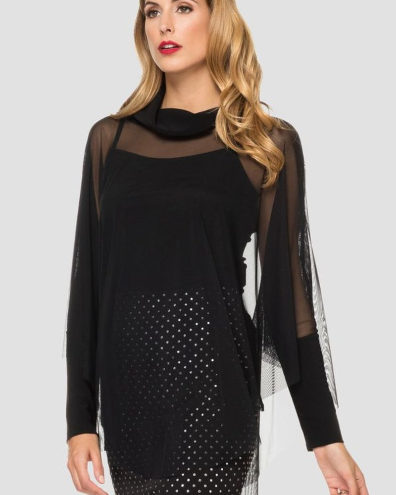 Joseph Ribkoff Sheer turtle neck cover up