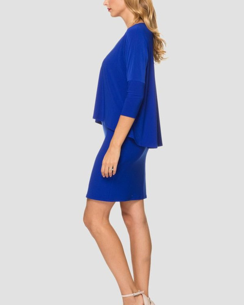 V-neck two layers dress
