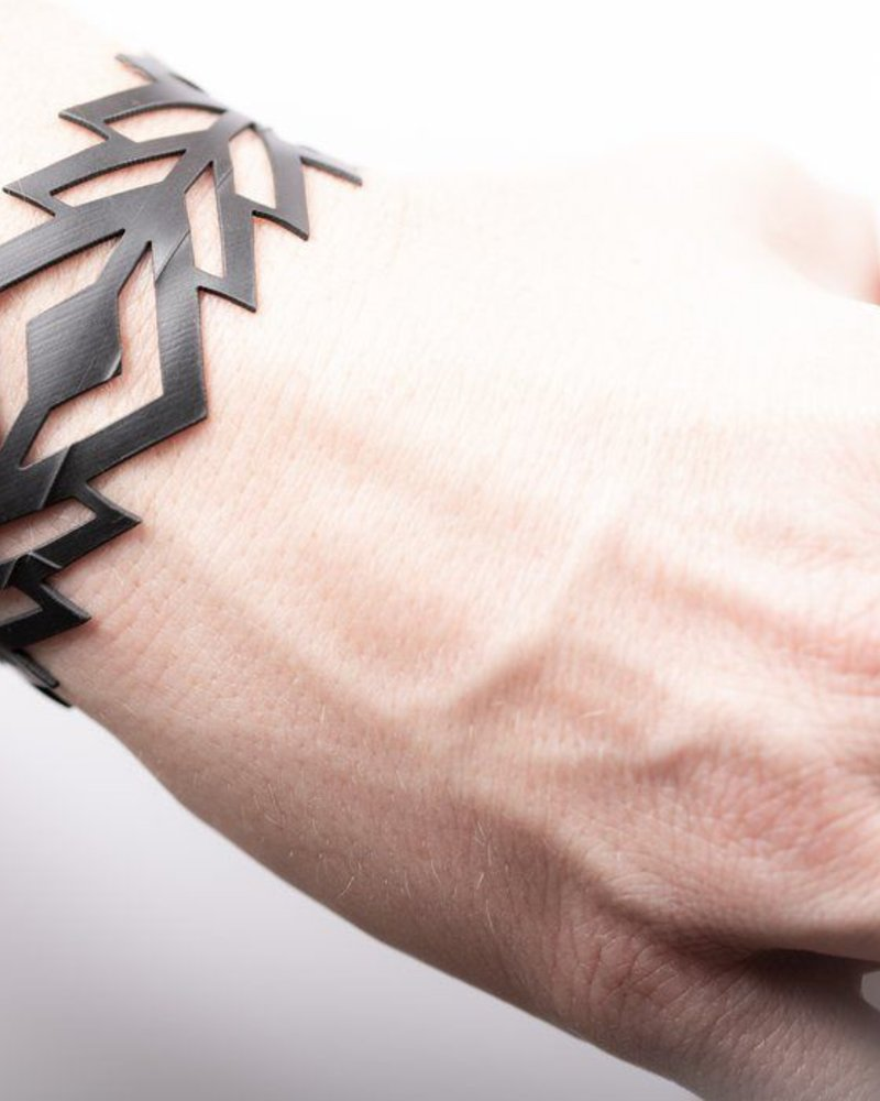 verdigris Diamond rubber bracelet