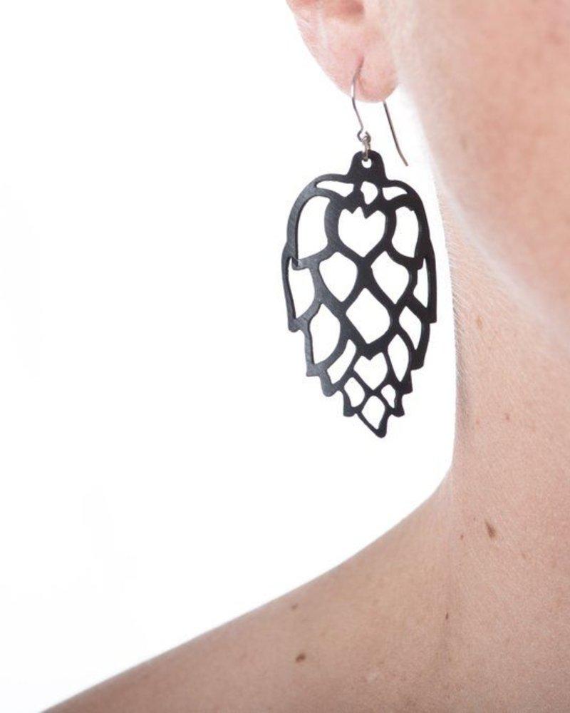 verdigris Hops earring