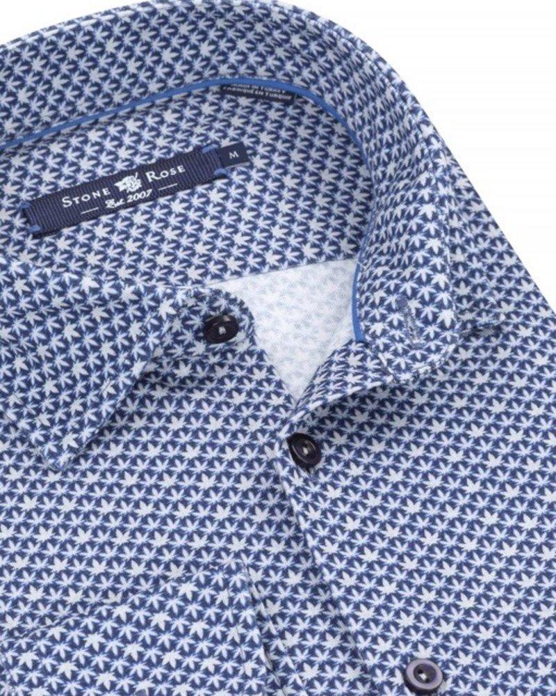Stone Rose Leafprint button down shirt