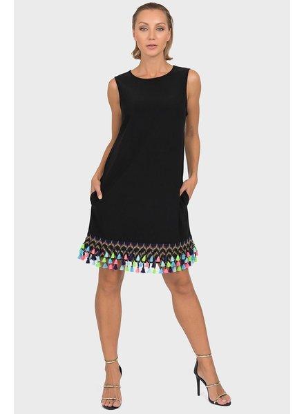 Joseph Ribkoff Tunic dress with colorful tassle