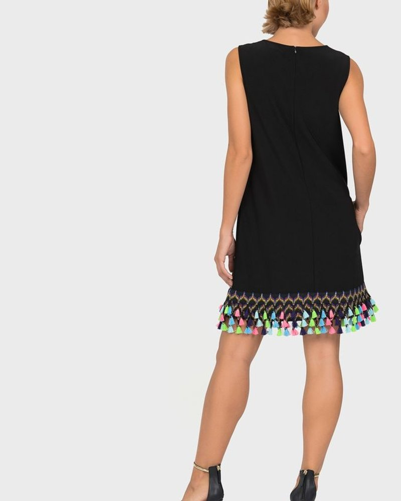 Joseph Ribkoff Tunic dress with colorful tassle