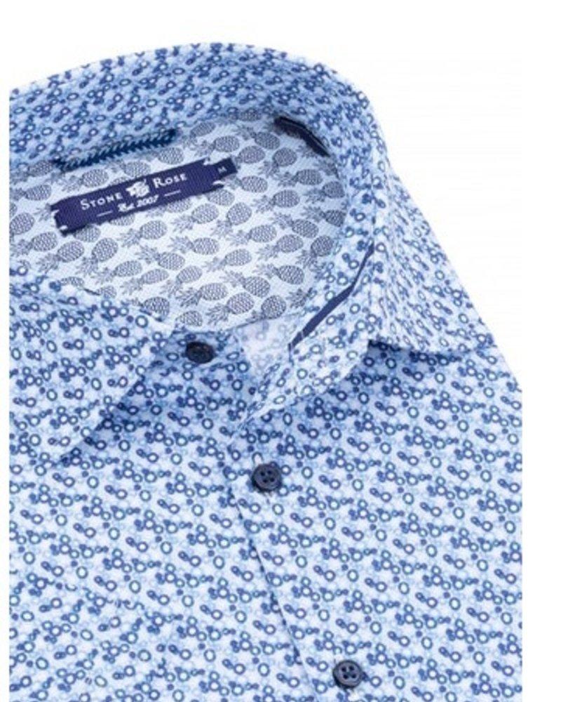 Stone Rose Cogs Print short sleeve shirt