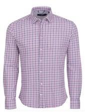 Stone Rose Check Knit Long Sleeve Shirt