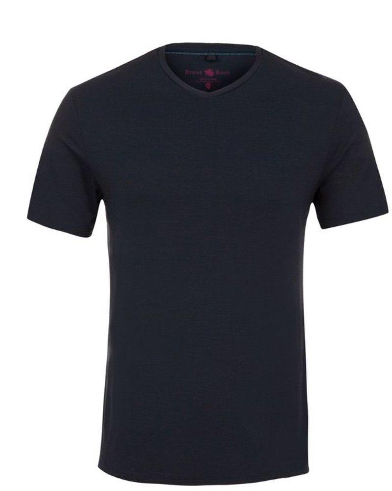 Stone Rose V-Neck Modal T-Shirt