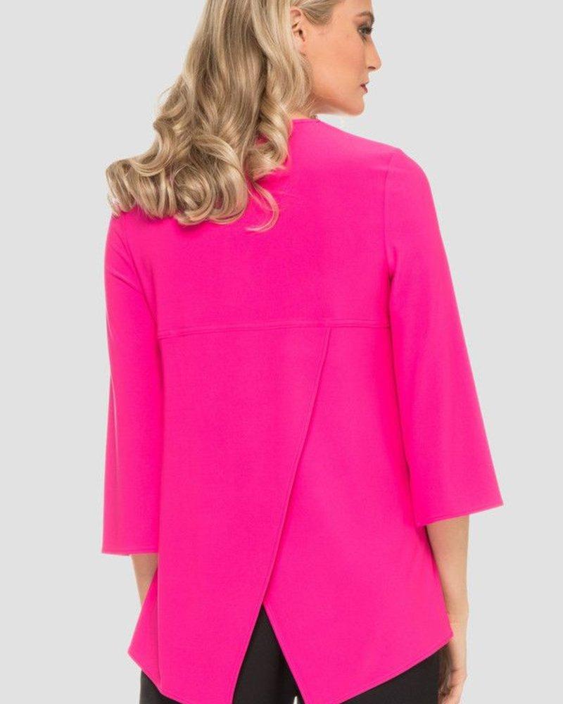 Joseph Ribkoff Zip-up front vee neckline blouse