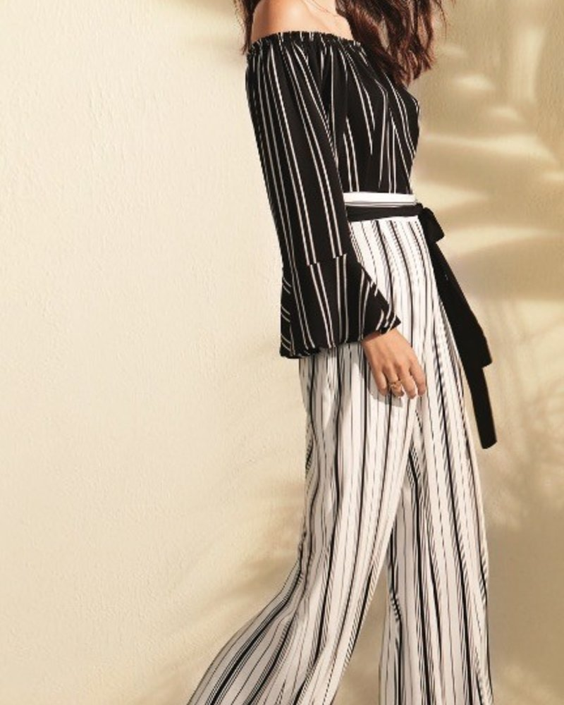Joseph Ribkoff High waist striped pant