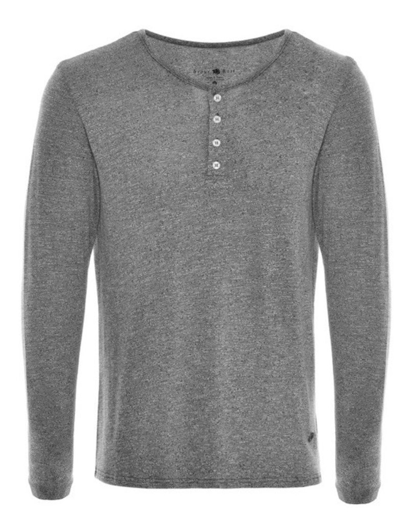 Stone Rose Gray Triblend Henley