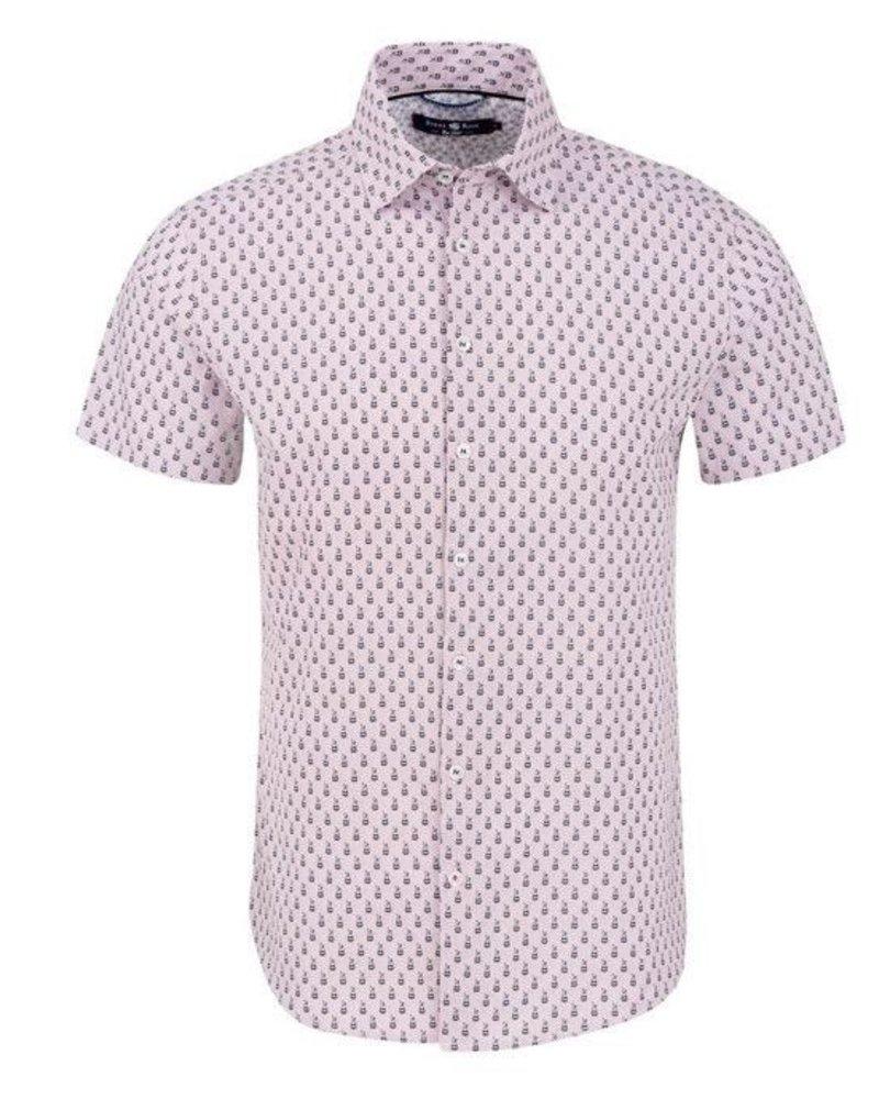 Stone Rose Bunnies print short sleeves shirt