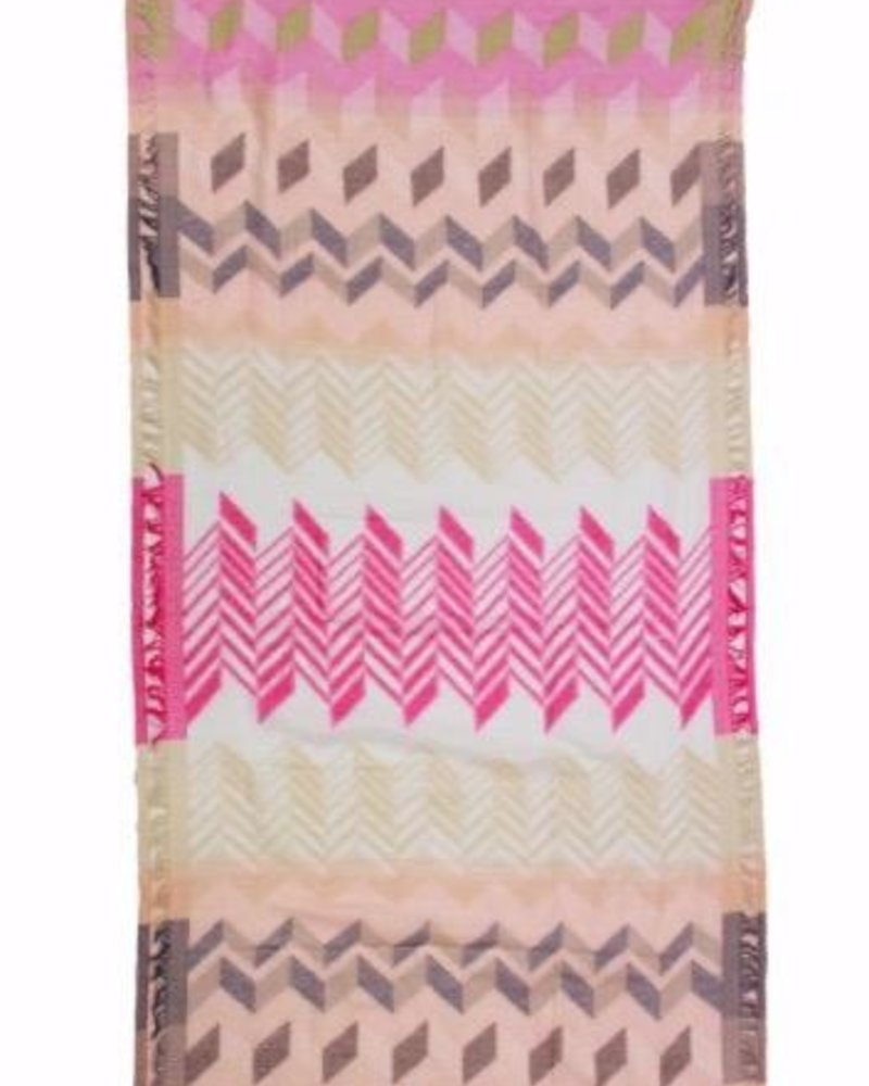 verdigris Funky Geometric print scarf