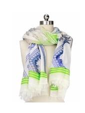 verdigris Abstract Tie Dye Diamond scarf