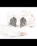 verdigris Tiny tropical leaf earring