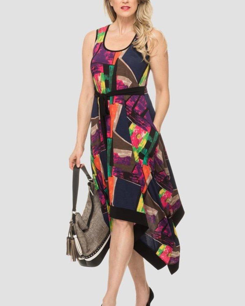 Joseph Ribkoff Multicolored graphic print dress