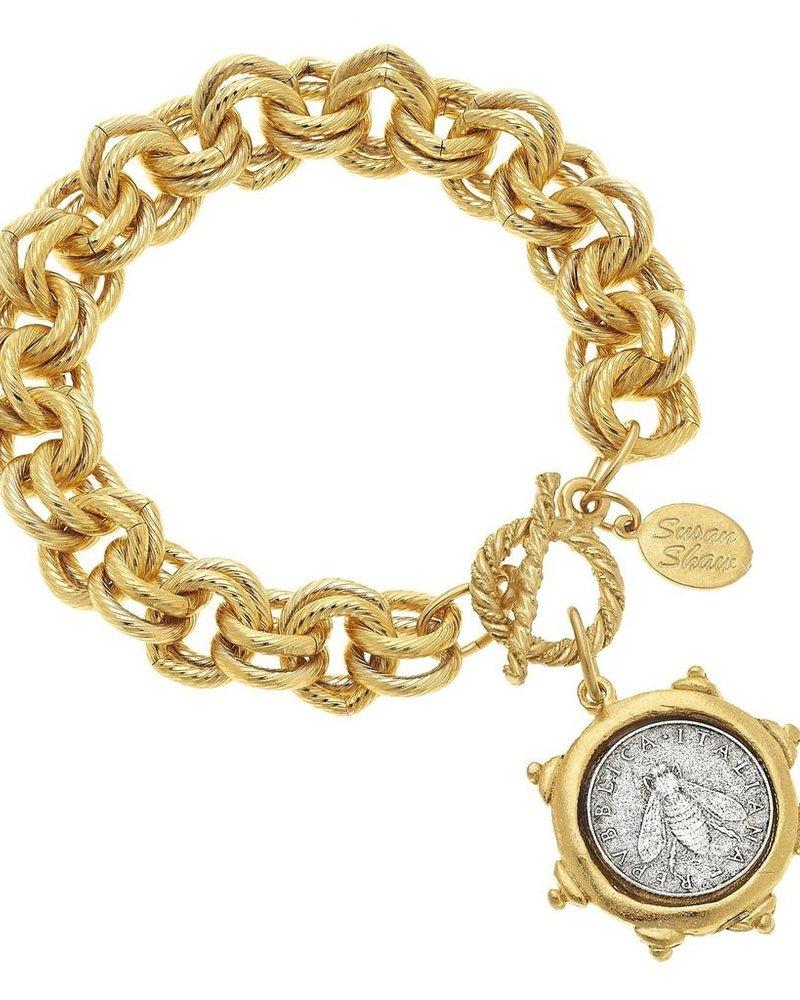Susan Shaw Bee Lira Chain Bracelet