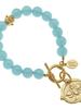 Susan Shaw Gold Bee Intaglio Stone Bracelet