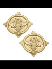 Susan Shaw Bee Intaglio Earrings