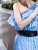 Ada Leather wrap belt in Black