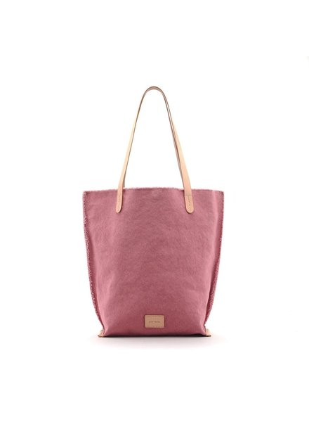 Graf & Lantz Hana Tote Canvas<br /> Rock Salt / Natural Leather