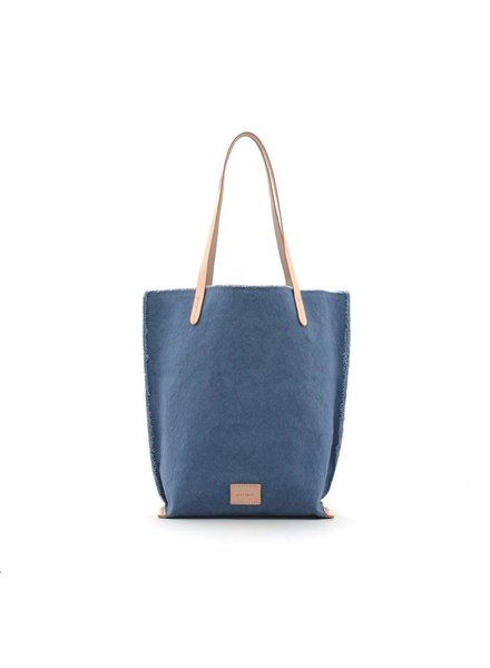 Hana Tote Canvas <br /> Horizon / Natural Leather