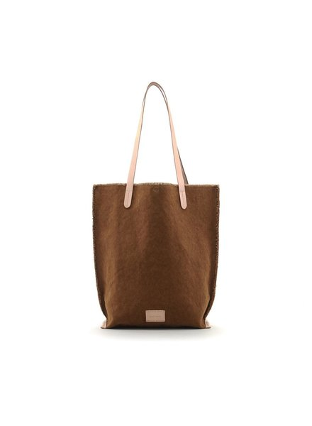 Graf & Lantz Hana Tote Canvas <br /> Mountain / Natural Leather
