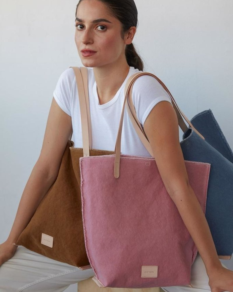 Hana Tote Canvas Mountain / Natural Leather
