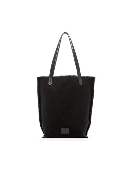 Graf & Lantz Hana Tote Canvas Black / Black Leather