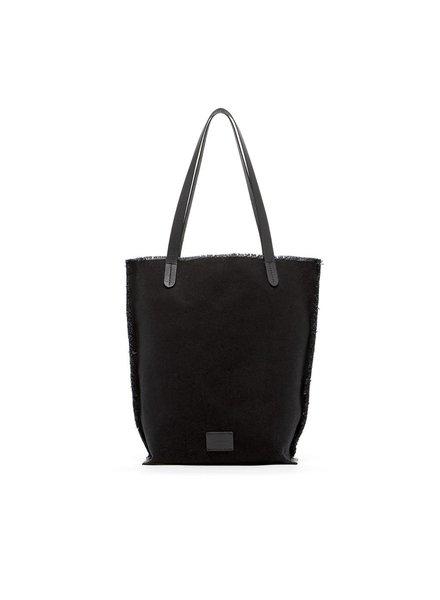 Hana Tote Canvas Black / Black Leather