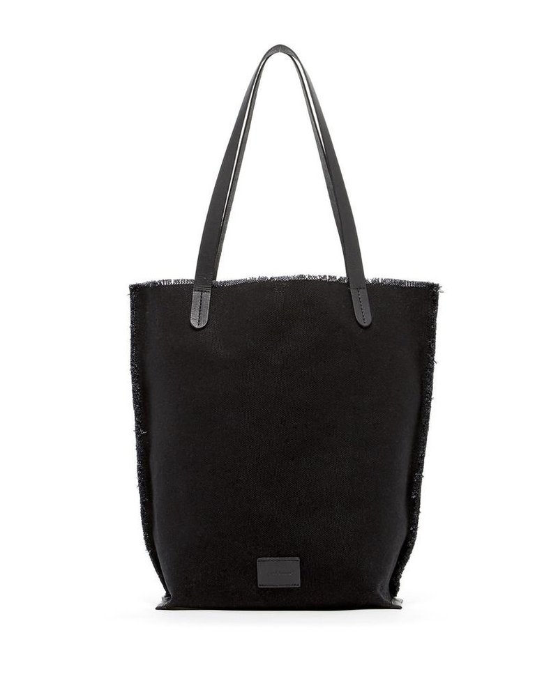 Graf & Lantz Hana Tote Canvas <br /> Black / Black Leather