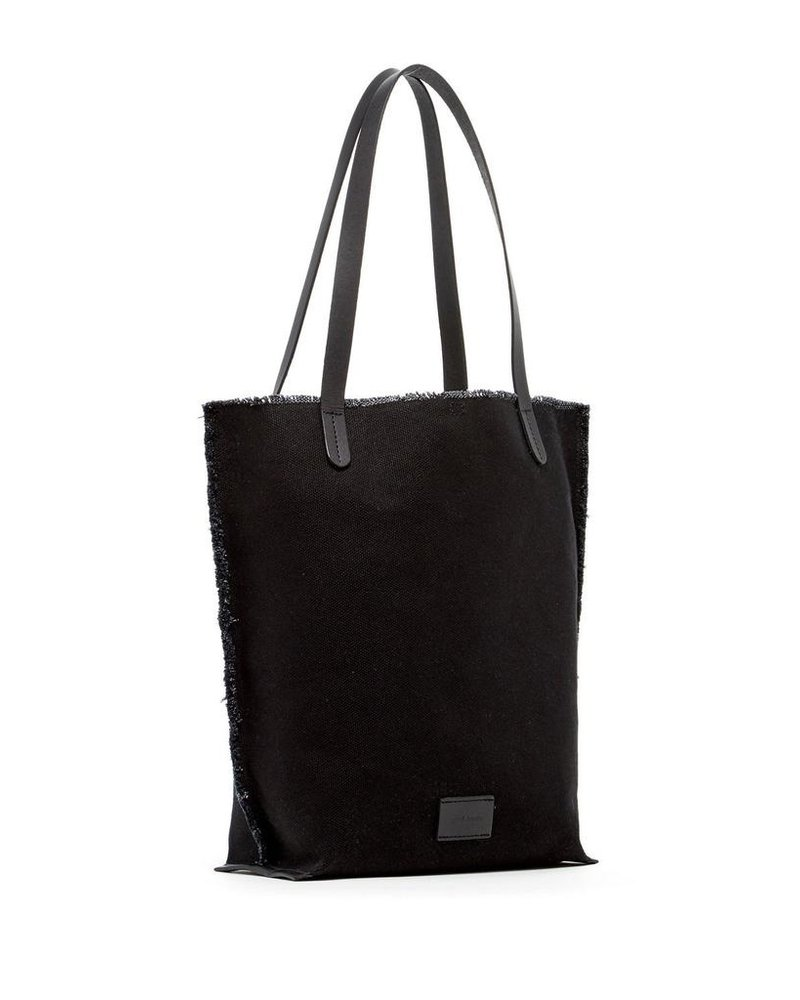 Hana Tote Canvas <br /> Black / Black Leather