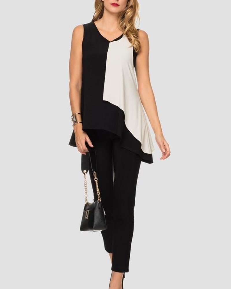 Joseph Ribkoff Fit and high-contrast coloring top