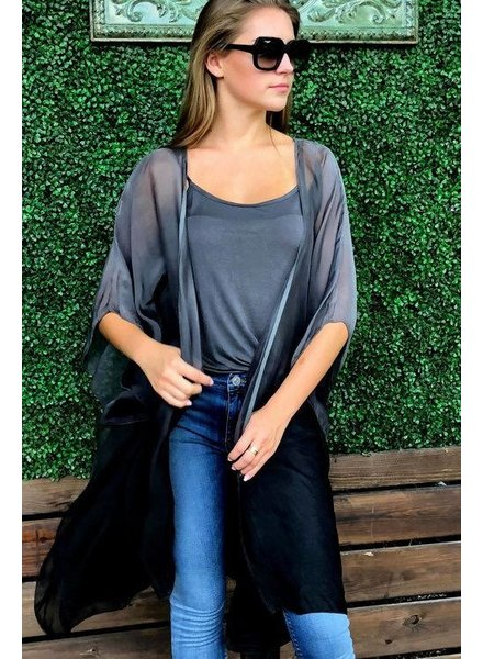 Sofia Collections Key Charcoal Ombre Wrap