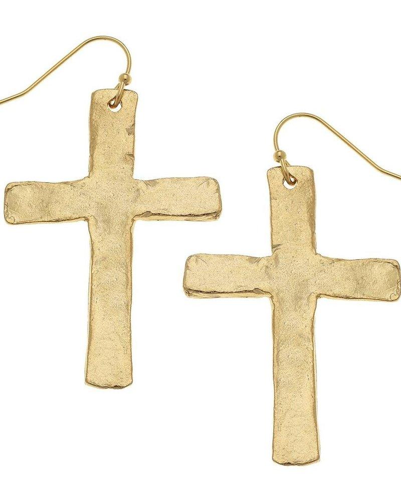 Susan Shaw Cross Dangle Earrings