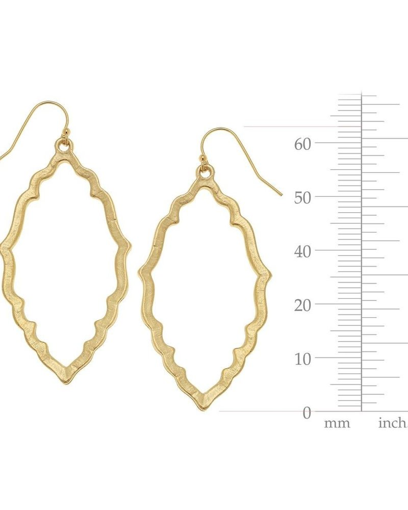 Susan Shaw Medallion Outline Earrings