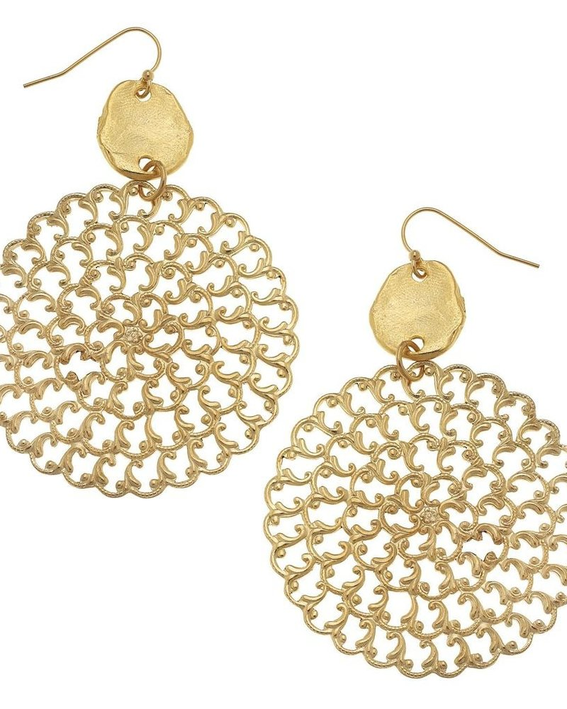 Susan Shaw Filigree Drop Earrings