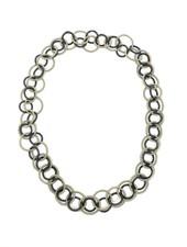 verdigris Bronze/Black Long Multi Loop piano wire Necklace